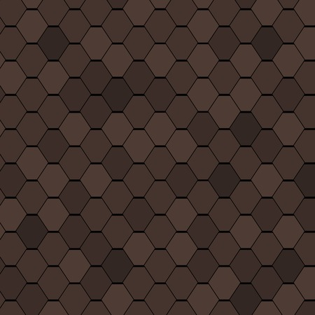 roof shingles: Clay Roof Tiles Seamless Texture. Vector Illustration