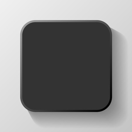 argent: Black Blank Icon Template for Web and Mobile Button with Shadow Vector illustration Stock Photo