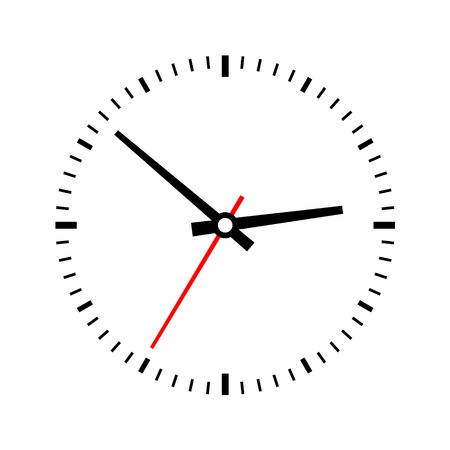 Clock dial on a white background. Vector illustration illustration