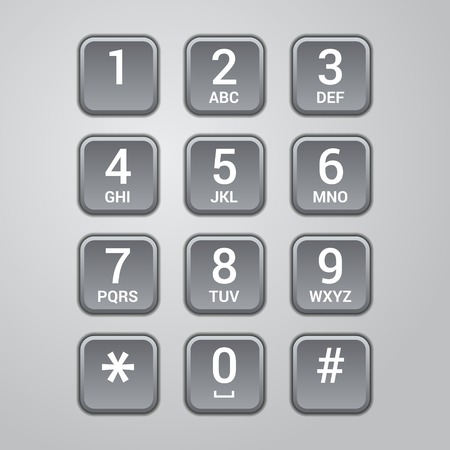 User interface keypad for phone. Vector illustration illustration