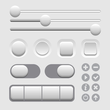 scrollbar: User Interface Elements Set on Light Background. Vector illustration