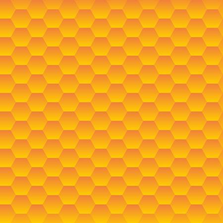 repeated: Seamless hexagonal cells texture. Honeycombs pattern.