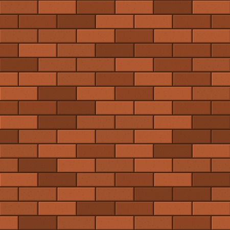 Seamless Pattern of Red Brick. Vector illustration illustration