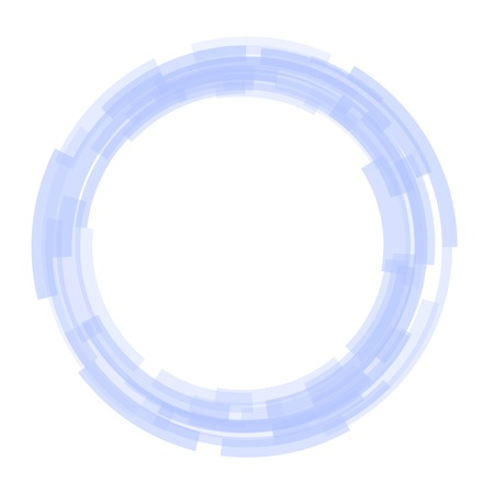 covet: Abstract Technology Blue Circles Background. Stock Photo
