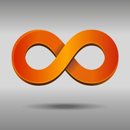 mobius strip: Vector illustration of sleek style Infinity Symbols Stock Photo