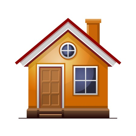 House icon isolated on white background. Stock Photo