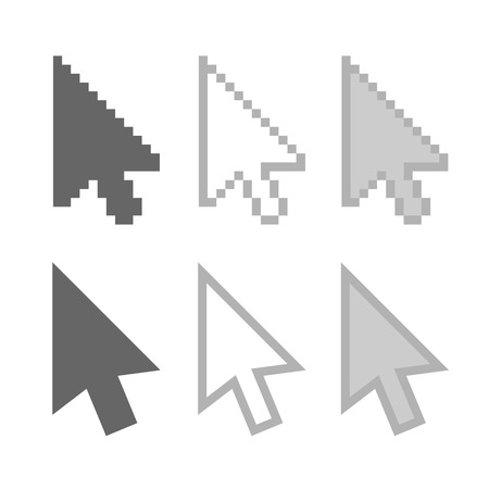 Arrow mouse cursors icons. Vector illustration EPS8 illustration