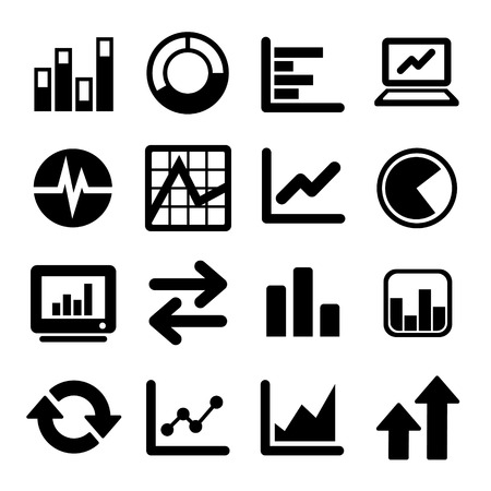 bar area: Business Infographic icons set