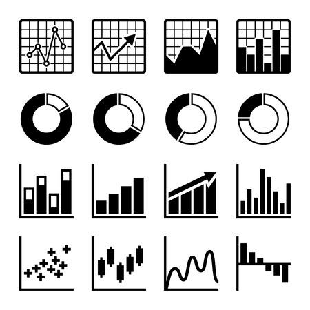 histogram: Business Infographic icons set