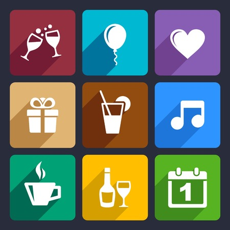Party and Celebration icons set for Web and Mobile Applications photo