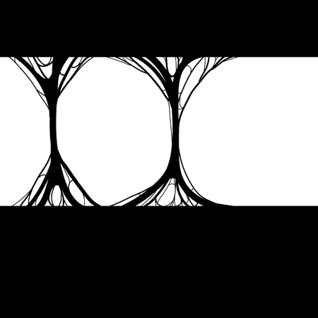 cobwebby: spider net vector background black silhouette on white