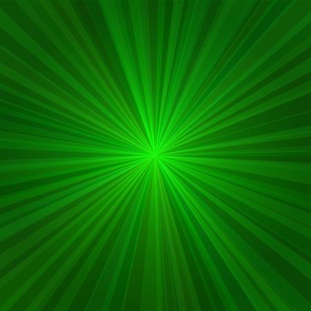 radiate: Light Green Rays Abstract Background. Vector illustration