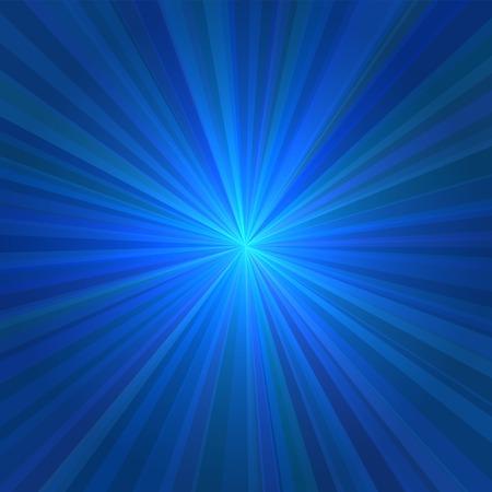 raggi di luce: Astratta raggi blu sfondo chiaro. Illustrazione vettoriale.