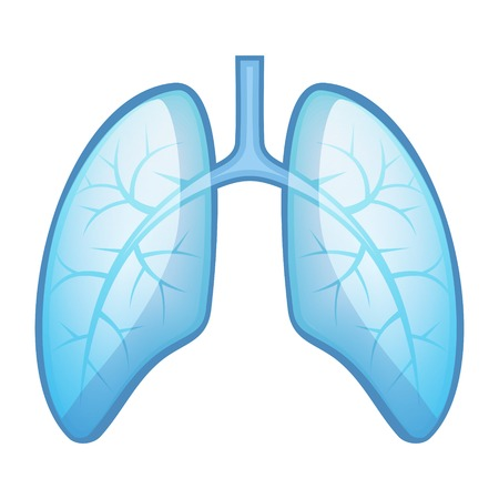 Menselijke Gezondheid Longen en luchtwegen. Vector Illustratie