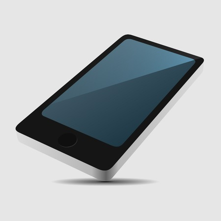 view icon: Smartphone 3D View Icon in Flat Style. Vector illustration