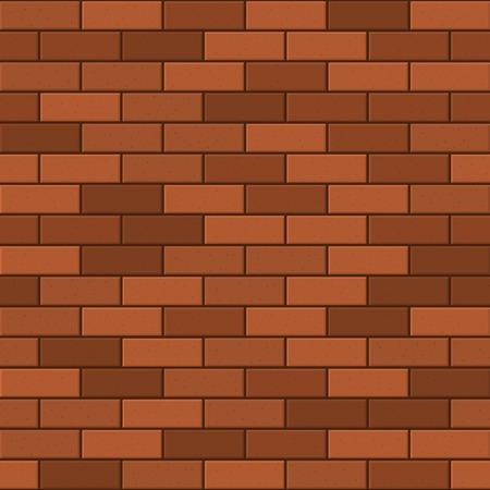 built: Seamless Pattern of Red Brick. Vector illustration Illustration