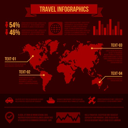 Travel infographics with data icons and elements.  Vector
