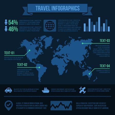 Travel infographics with data icons and elements. Vector Vector