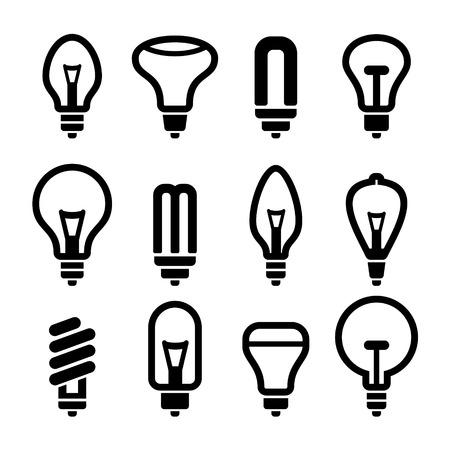 Light bulbs. Bulb icon set 2. Vector illustration Illustration