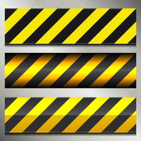 Set of Danger and Police Warning Lines. Vector Vector