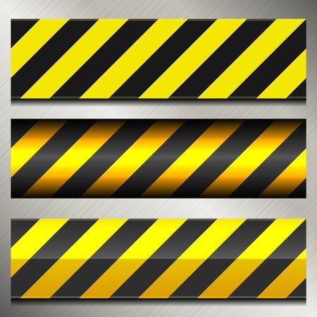 Set von Danger-und Polizei die Warnung Lines. Vektor