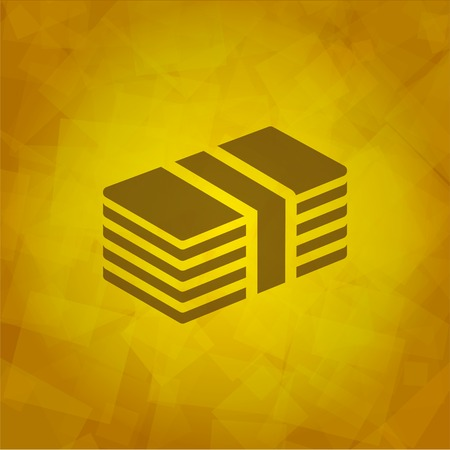 Mioney Icon on Yellow abstract Background. Vector