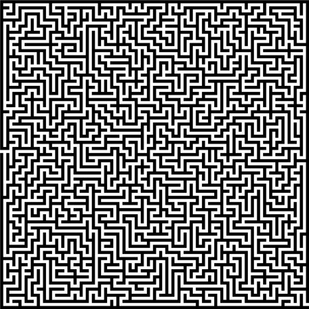 Vector illustration of maze. Black wall on white background.