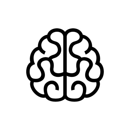 human icons: Brain Icon. Vector Illustration on White Background