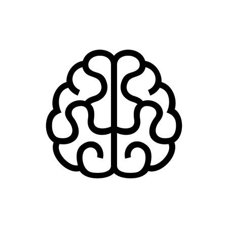inteligencia: Icono del cerebro. Ilustración vectorial sobre fondo blanco Vectores