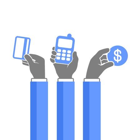 Méthodes de Paiement en ligne Icons Set Vector illustration