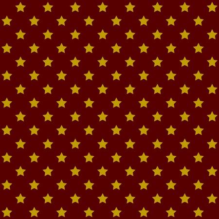 Seamless Stars Pattern in Retro Red  Vector Illustration Vector