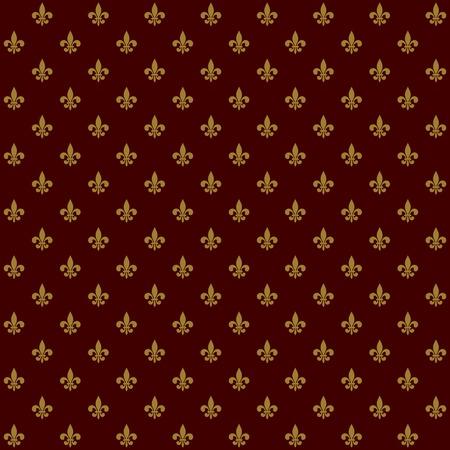 Royal Lily Fleur de Lis Seamless Pattern  Vector illustration