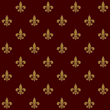 symbol fleur de lis: Royal Lily Fleur de Lis Seamless Pattern  Vector illustration