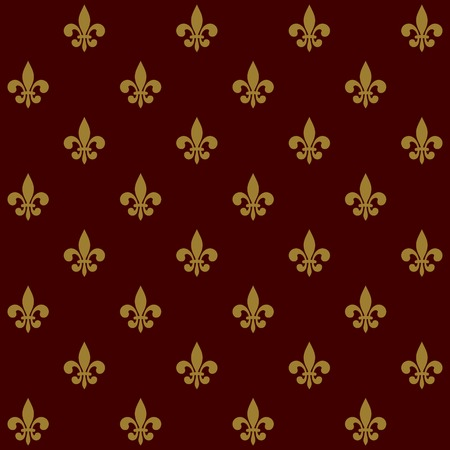 Royal Lily Fleur de Lis Seamless Pattern  Vector illustration