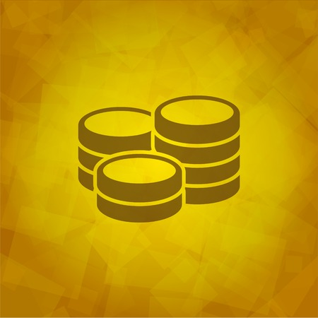Mioney Icon on Yellow abstract Background  Vector Vector