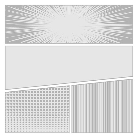 Comics pop art style blank layout template with dots pattern background vector illustration Vector