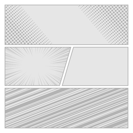 Comics pop art style blank layout template with dots pattern background  Illusztráció