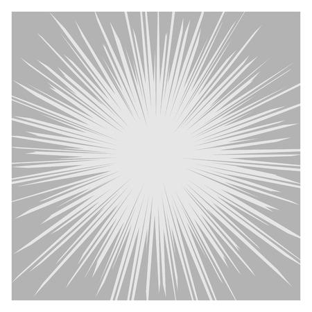 漫画放射状の速度ライン グラフィック効果ベクトル イラスト