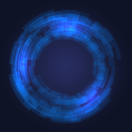 covet: Abstract Technology Blue Circles Background  Vector Illustration Illustration