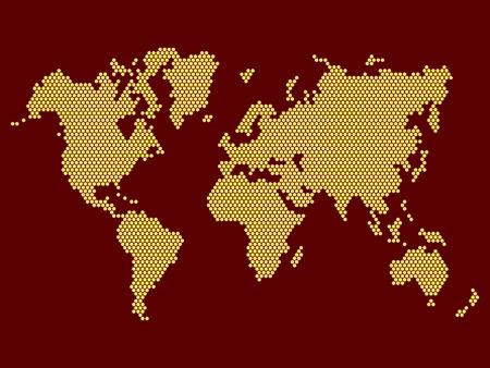 World Map Dotted on Dark Background  Vector illustration Vector