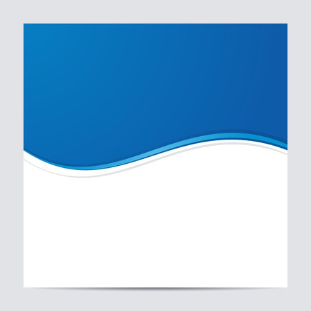 Blue and White Blank Abstract Background  Vector illustration Vector
