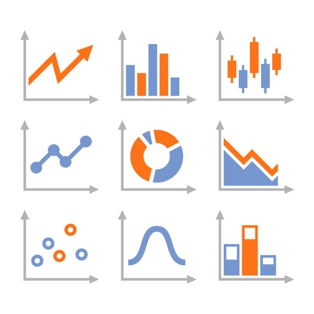 Simple Set of Diagram and Graphs  Vector Illustration Vector