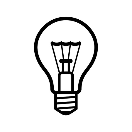 fluorescent lights: Light Bulb Icon on White Background  Vector illustration