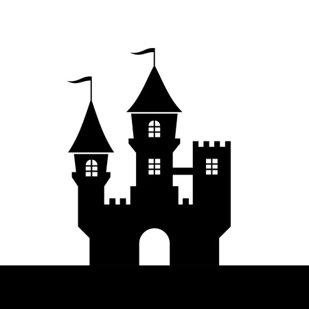 Castle Silhouette Icon on White Background  Vector illustration Vector