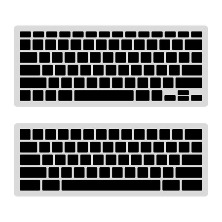 teclado de ordenador: Teclado de ordenador plantilla en blanco Set ilustración