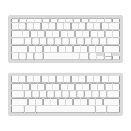 teclado numerico: Teclado de ordenador plantilla en blanco Set ilustración