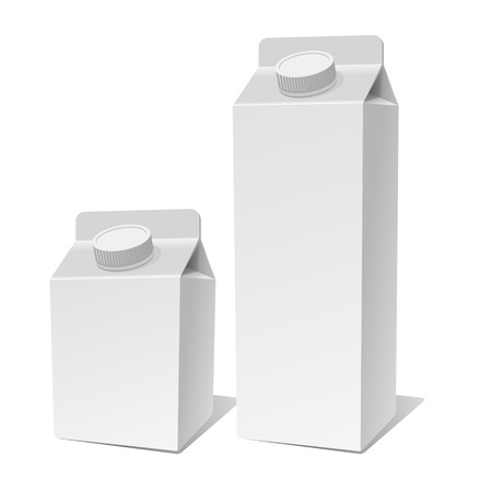 pasteurization: Paper Milk ProductPack Container Set