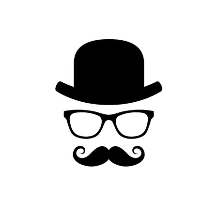 Hat, Glasses and Mustache Set illustration