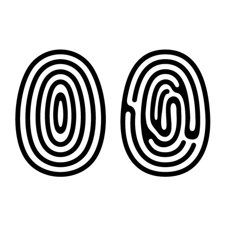 fingertip: Fingerprint Icons Set on White Background  Vector Illustration Illustration