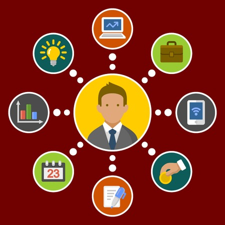 business development: Business Concept Infographic Design Elements in Flat Style  Vector illustration